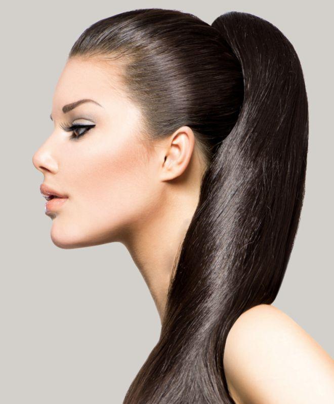 Накладные волосы хвост из натуральных волос