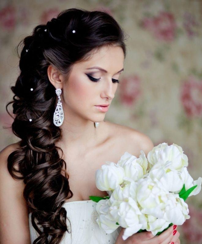 Прическа с накладными прядями на свадьбу фото