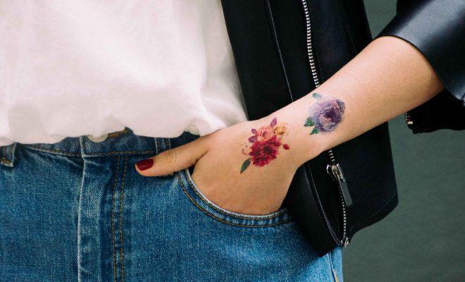 временное тату в домашних условиях без хны цветы