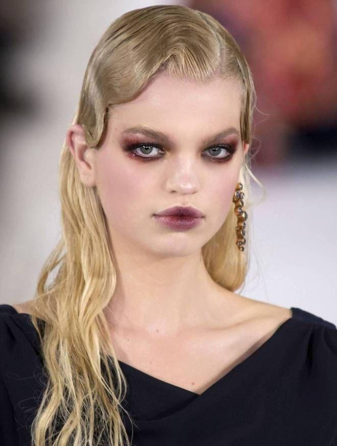 эффект мокрых волос на длинные волосы блондинка