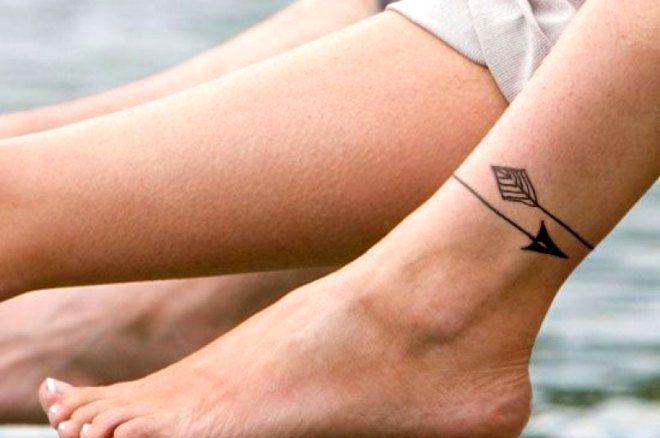 браслет на ноге минимализм