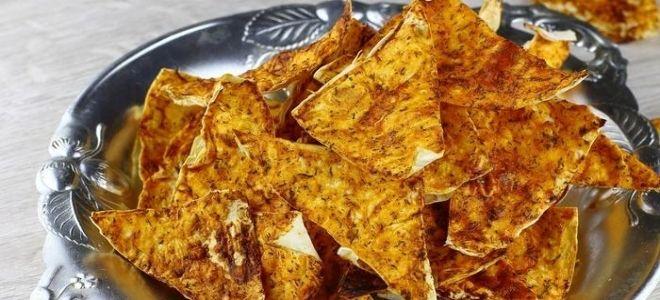 чипсы из лаваша с кетчупом