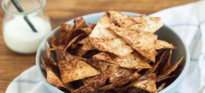 сладкие чипсы из лаваша