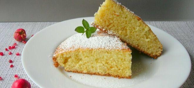 обычный пирог к чаю без начинки