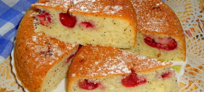 сладкий пирог к чаю в мультиварке