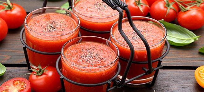 как сделать томатный сок через соковыжималку