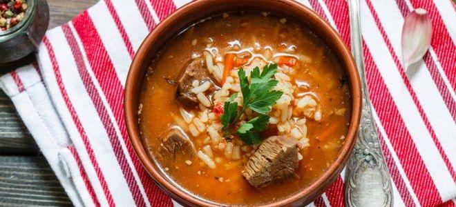 суп харчо  классический с рисом