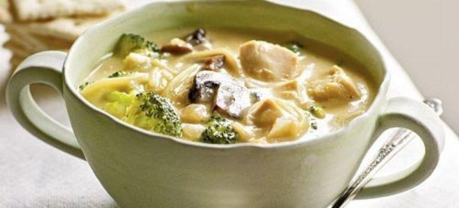 куриный суп с вермишелью и брокколи