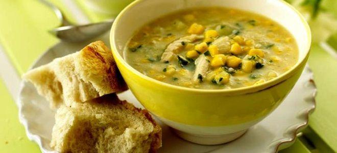 куриный суп с вермишелью и кукурузой