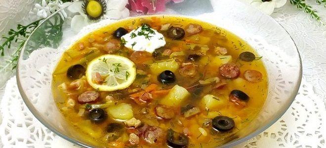 классический суп солянка