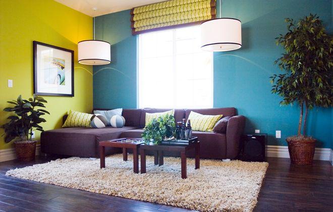 варианты покраски стен двухцветный