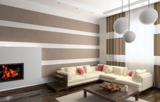 варианты покраски стен узор