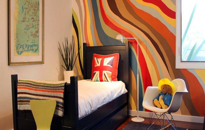 варианты покраски стен сложные