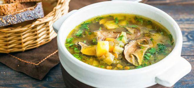 суп с грибами и перловкой