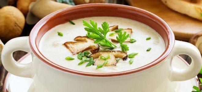 суп с грибами и сливками