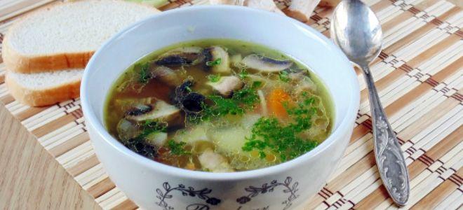 суп с грибами и картошкой