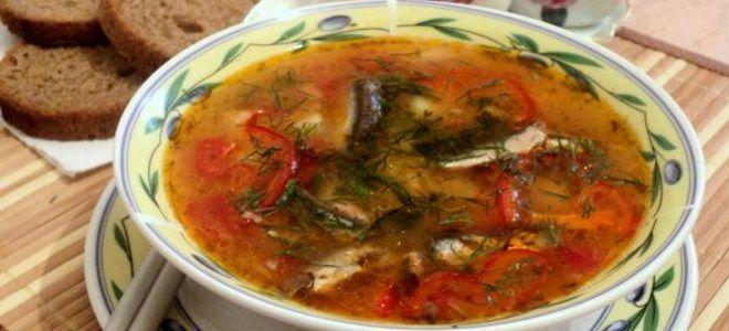 рыбный суп из консервов килька в томате
