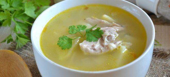 Куриный суп пошаговый рецепт