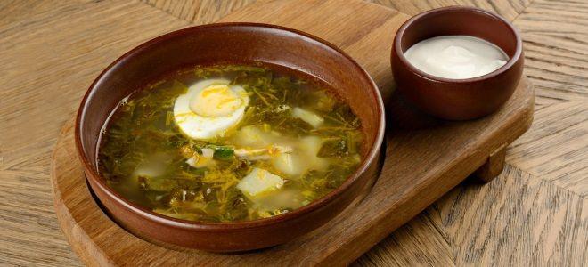 Щавелевый суп пошаговый рецепт