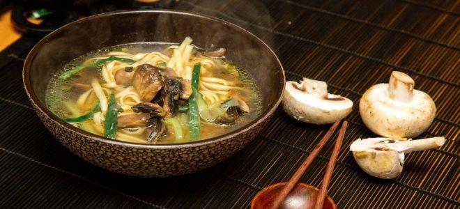 грибной суп по китайски