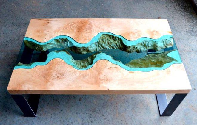 как сделать стол реку