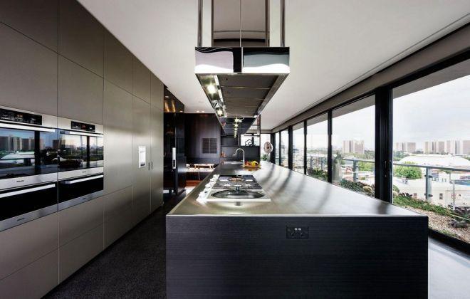 Кухня в пентхаусе