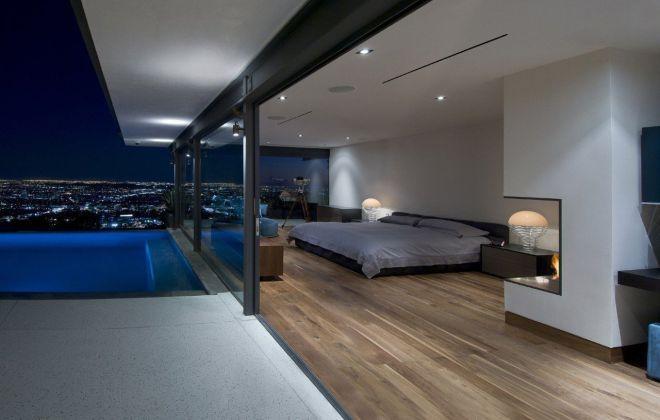 Спальня в пентхаусе подсветка