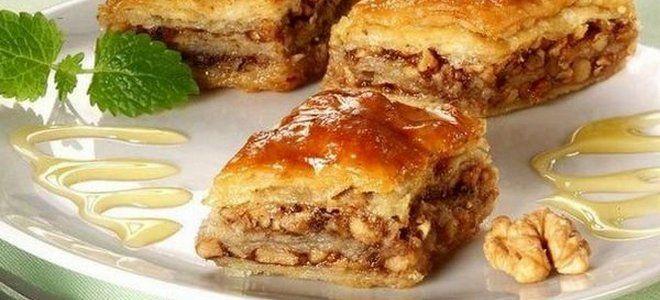 медовая пахлава рецепт