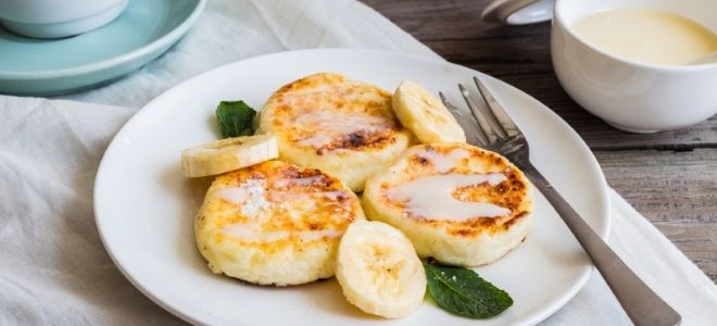 сырники с бананом рецепт