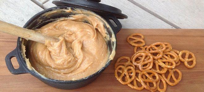 арахисовая паста со сгущенкой