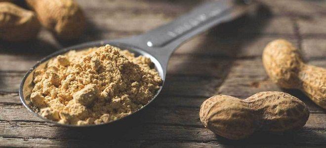 сухая арахисовая паста