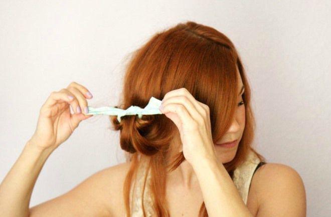 как волосы накрутить на бумагу