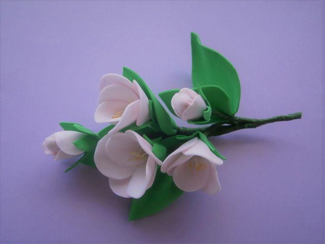 Цветы яблони из фоамирана своими руками с пошаговым фото для начинающих