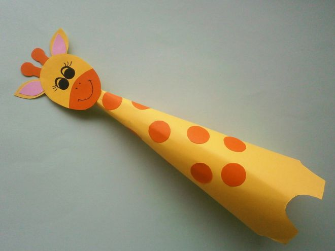 Жираф из бумаги своими руками для детей шаблоны 60