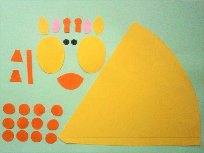 Жираф из бумаги своими руками для детей шаблоны 89