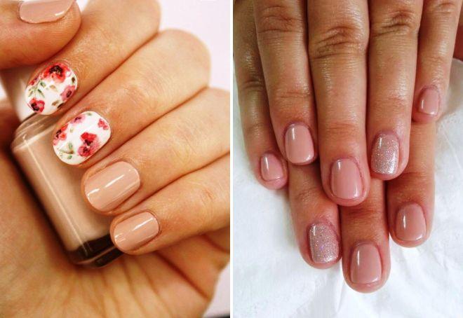Фото красивого нежного маникюра на короткие ногти