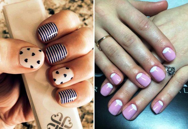 Красивые и простые маникюры на короткие ногти7