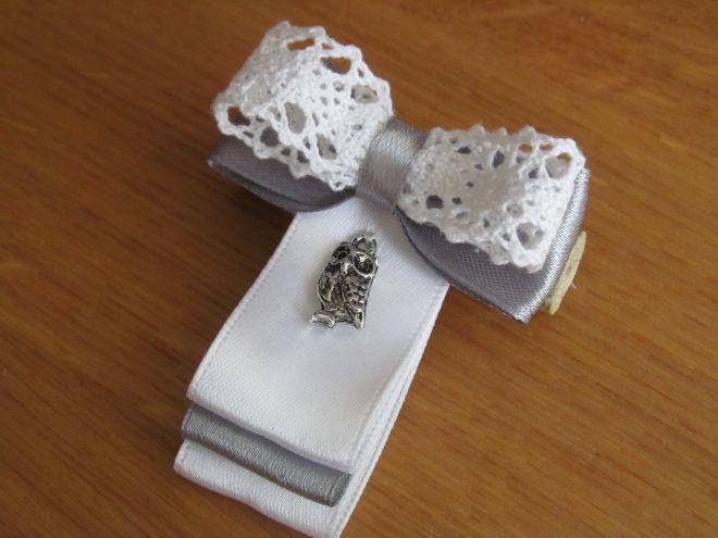 (галстук-бабочка из атласной ленты фото 13)