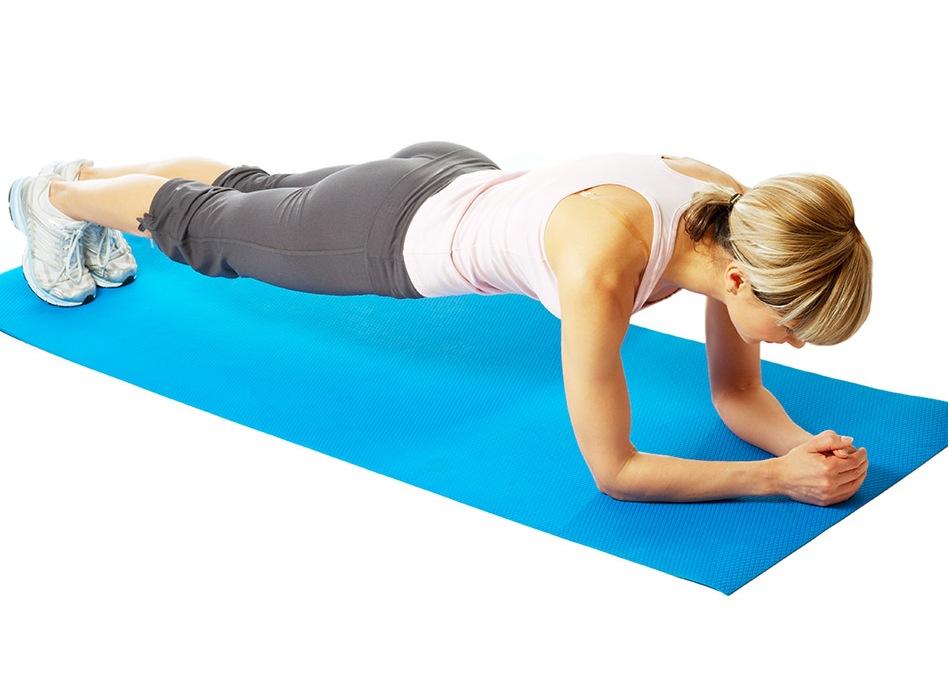 упражнение планка сжигает жир на животе