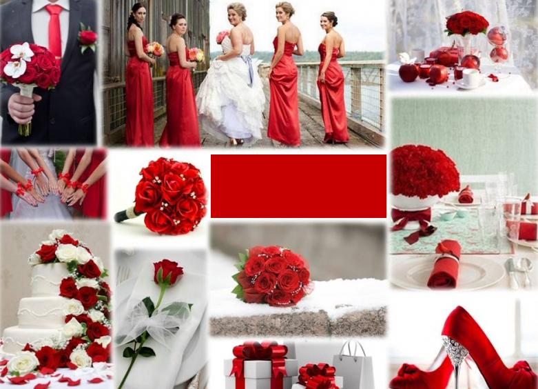 Свадьба красно белая