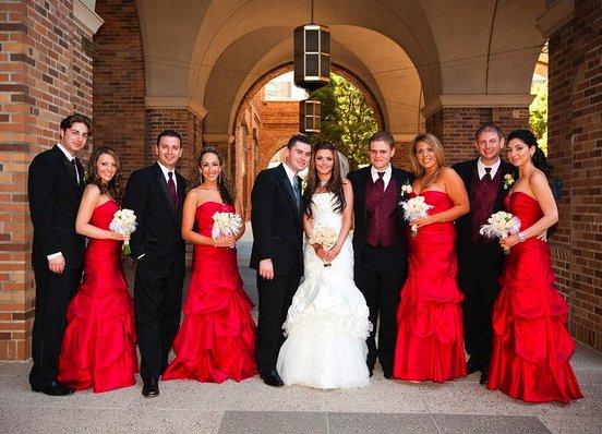 Red eye wedding