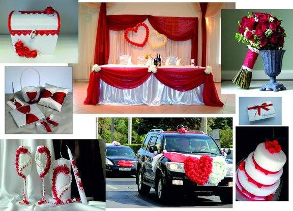 свадьба в красном цвете фото: