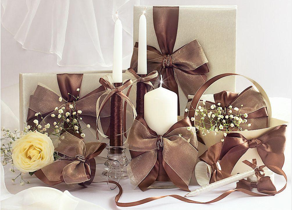 Chocolate gold wedding