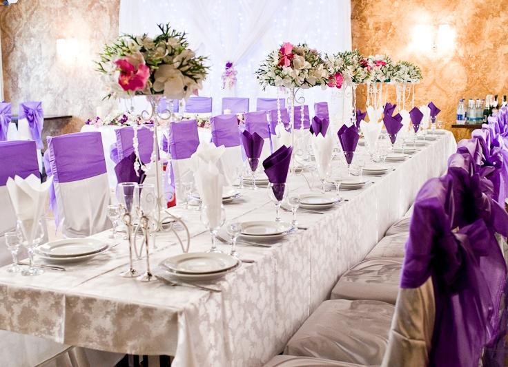 Оформление свадьбы в лавандовом цвете фото
