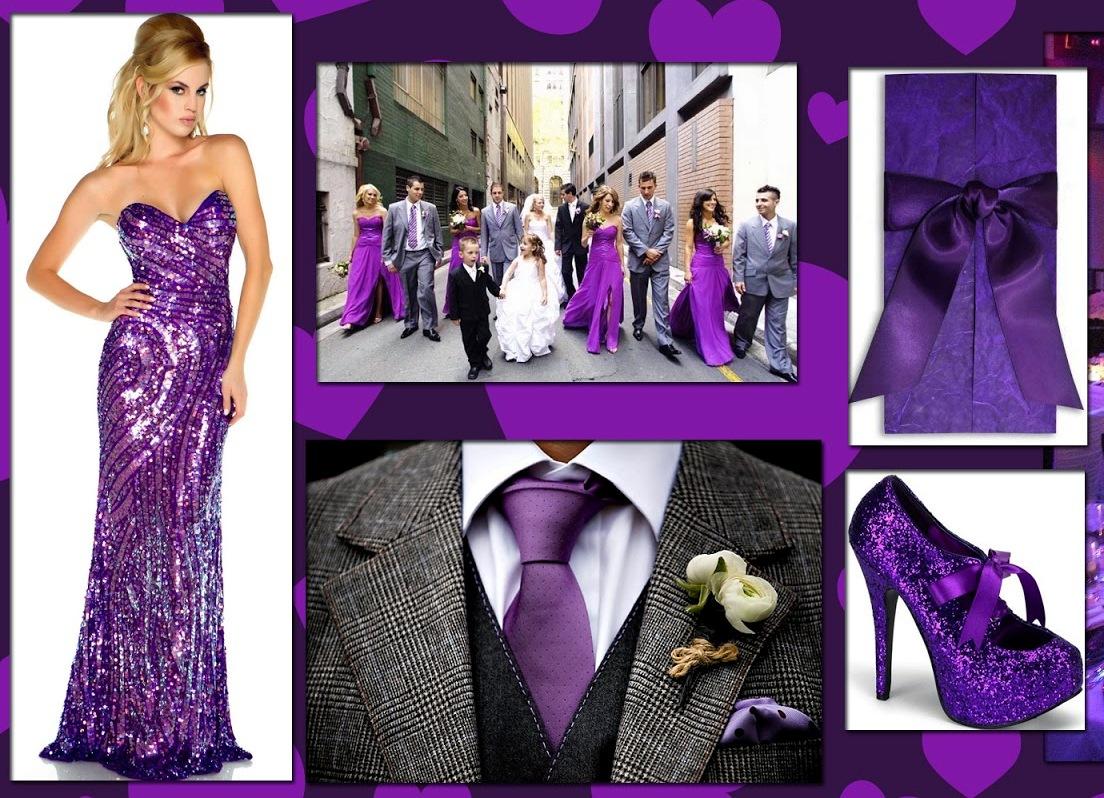 Пурпурный цвет свадьбы фото