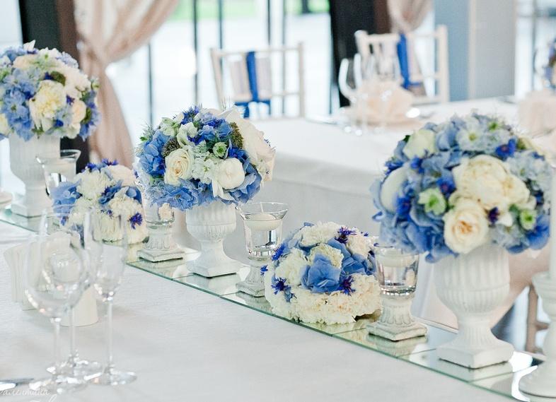 Свадьба в сине голубом цвете оформление