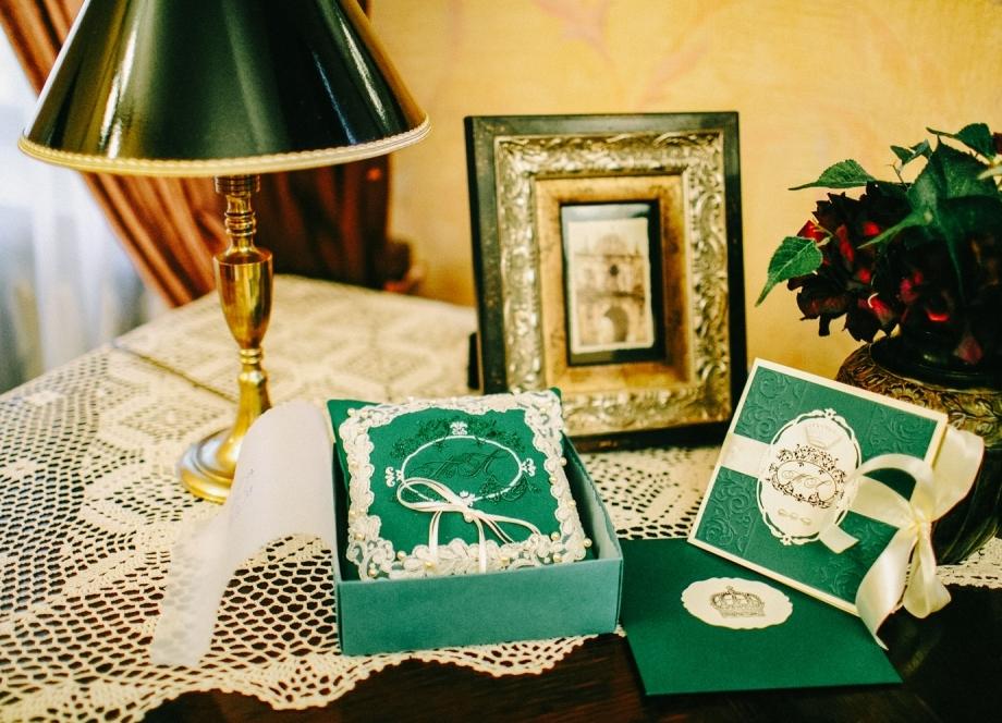 Свадьба в изумрудно-золотом цвете