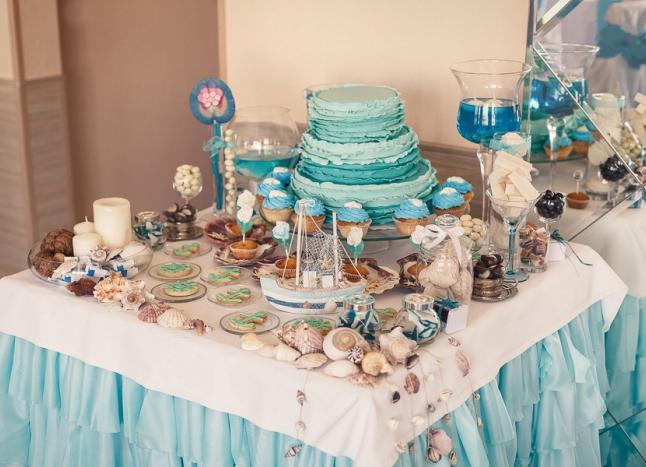 украшение свадьбы в морском стиле5