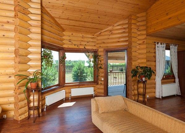 Фото дизайн домов из оцилиндрованного бревна