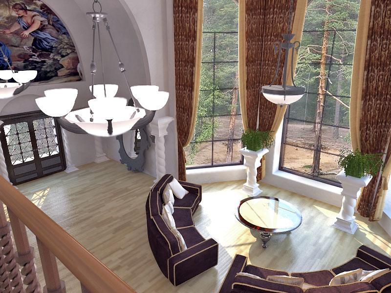 Дизайн дома со вторым светом